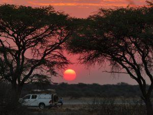 Landschap - ZaZoe Xperience - zonsondergang in Botswana